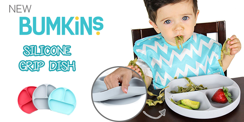NEW Silicone Grip Dish from Bumkins!