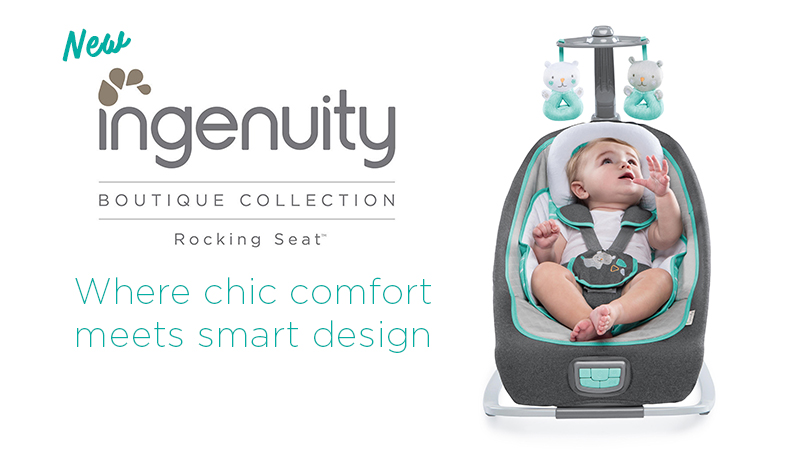 99694b74cab NEW Ingenuity Boutique Collection Rocking Seat and more! - Kidcentral  Updates